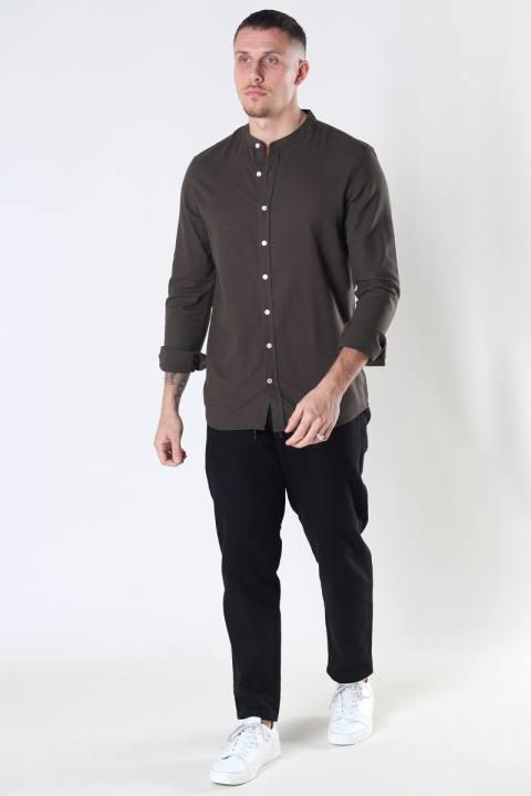 Kronstadt Johan Linen henley shirt Army