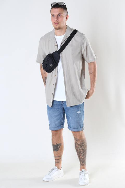 Only & Sons Onssteve Life Ss Seersucker Reg Shirt Pelican