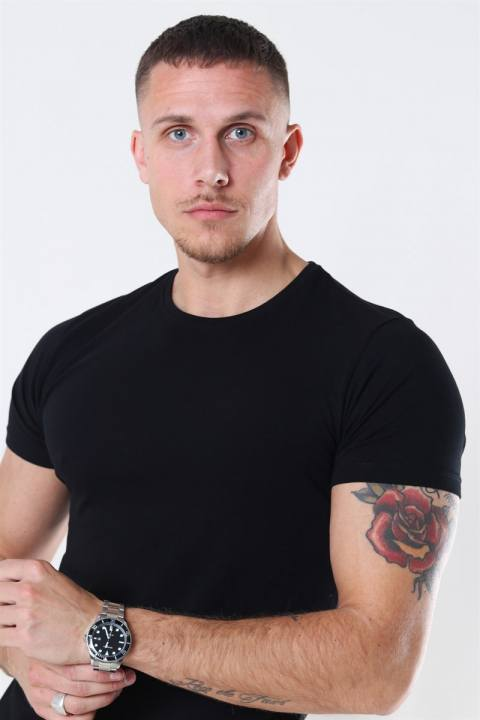Muscle Fit T-shirt 2-Pack Black/White