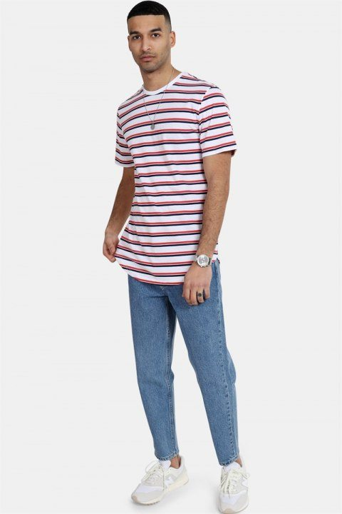 Only & Sons Palatine SS Longy T-shirt White