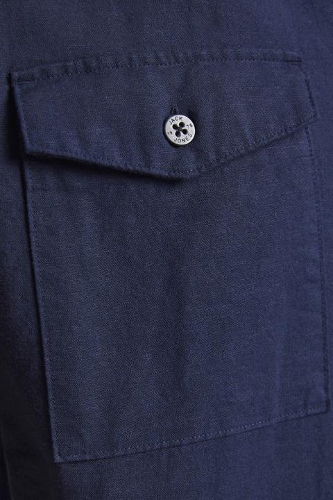 Jack & Jones JPRBLASUMMER POCKET RESORT SHIRT S/S Navy Blazer RELAX FIT