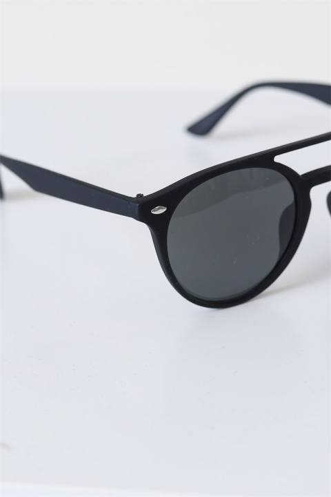 Fashion 1388 Mat Black Solbrille Grey Linse