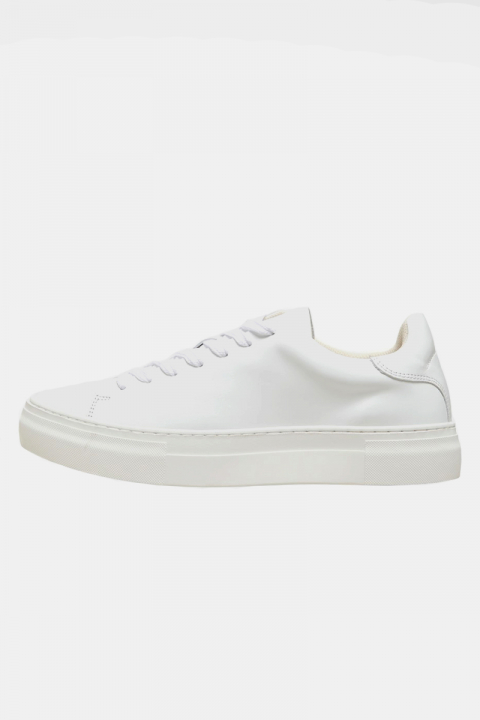 Køb Selected SLHDAVID CHUNKY LEATHER TRAINER B NOOS White
