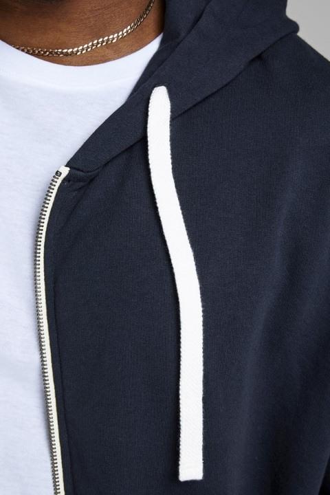 Jack & Jones Holmen Sweat Zip Hoodie Navy Blazer