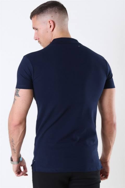Muscle Fit Polo Blue Navy