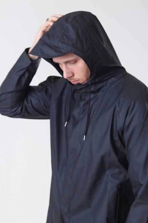 Rains Short Regnjakke Black