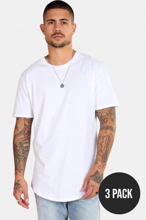 Only & Sons matt Longy SS T-shirt 3-pack White