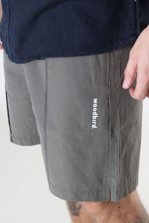 Woodbird Hansi Track Shorts Antra Grey