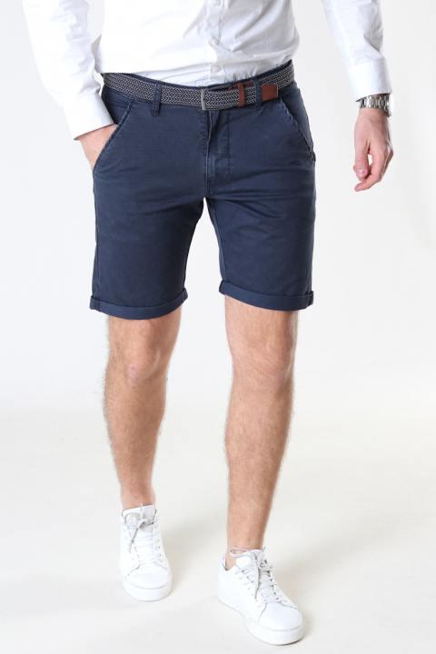 JEFF Louis Navy Shorts inkl. bælte
