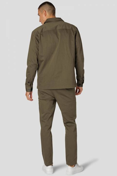 Clean Cut Copenhagen Milano Tristan Stretch Pants Army/Dark Grey