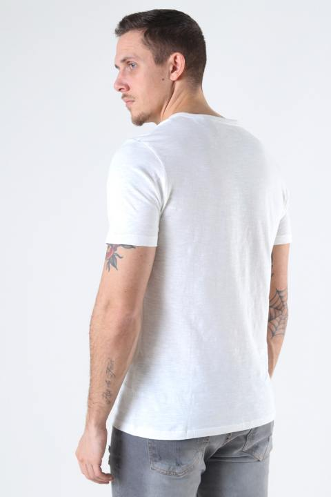Jack & Jones JJESPLIT NECK TEE SS NOOS Cloud Dancer Slim