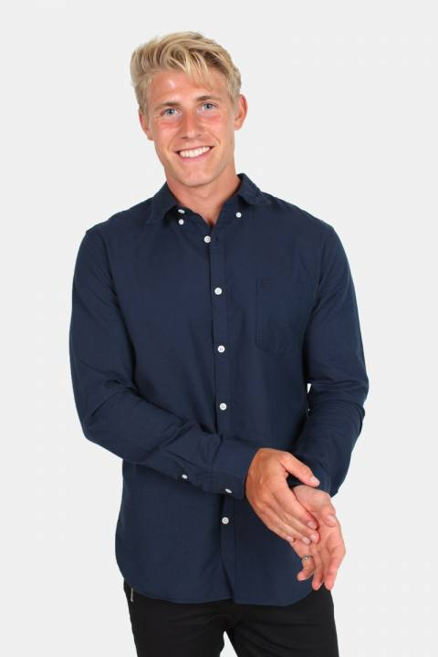Køb Selected Collect Reg Skjorte LS Moonlit Ocean