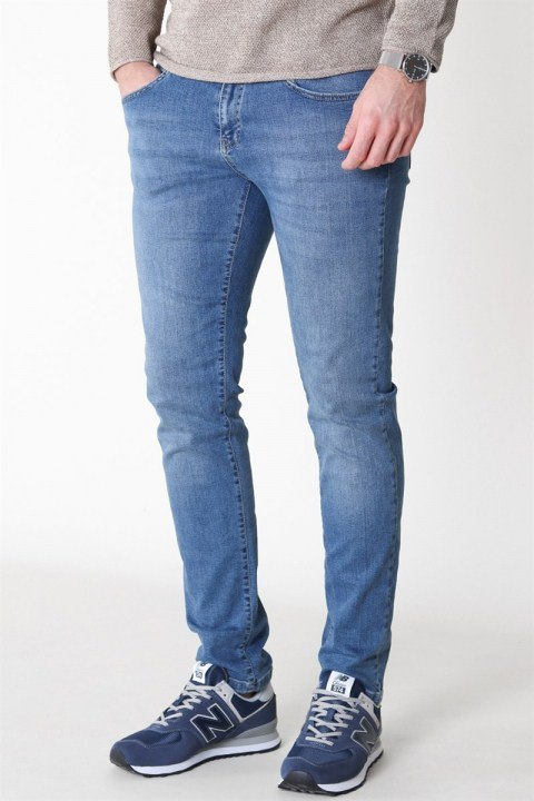 Woodbird Matti Greak Jeans Midnight Blue