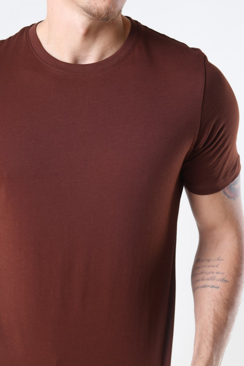 Jack & Jones Organic Basic T-shirt Chocolate Fonda