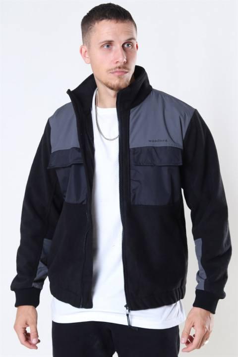 Woodbird Strukt Zip Fleece Jacket Black