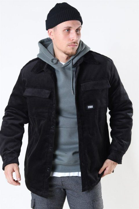 Køb Urban Classics Corduroy Skjorte Jakke Black