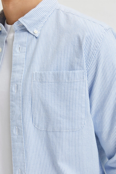 Selected SLHREGRICK-OX FLEX SHIRT LS S NOOS Skyway Stripes