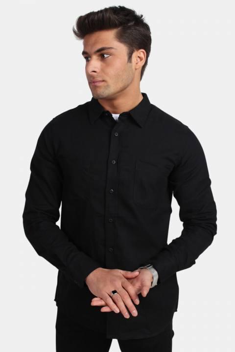Urban Classics TB297 Checked Flanell Skjorte Black/Black