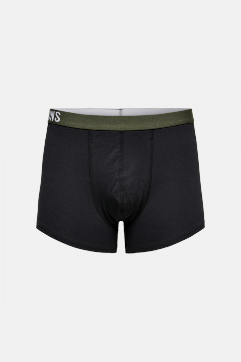 ONLY & SONS ONSFITZ SOLID BLACK TRUNK 3 PACK Black P. SPICE + D. NAVY + PEAT WAISTBAND
