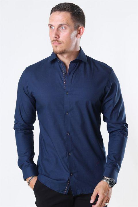 Jack & Jones Viggo Dobby Skjorte Navy Blazer