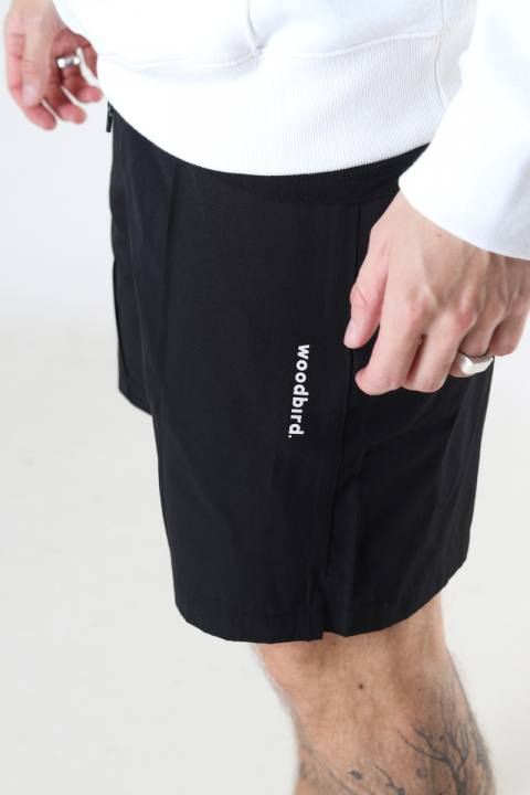 Woodbird Hansi Track Shorts Black