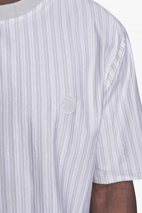 Woodbird Jabi Stripe Tee Off White