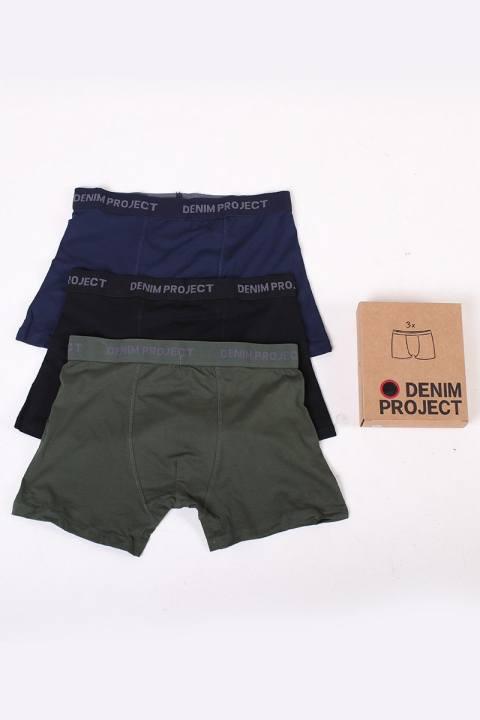 Denim Project 3 Pack Boxershors Green/Blue/Black