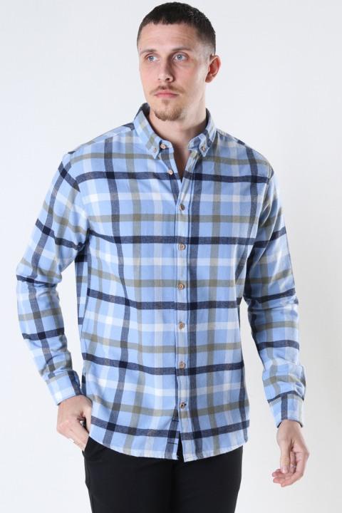 Image of Kronstadt Johan check gr.40 shirt Light Blue (125000001339-XL)