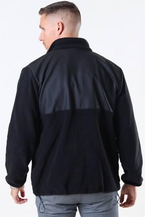 Rains Fleece Zip Puller Jakke Black