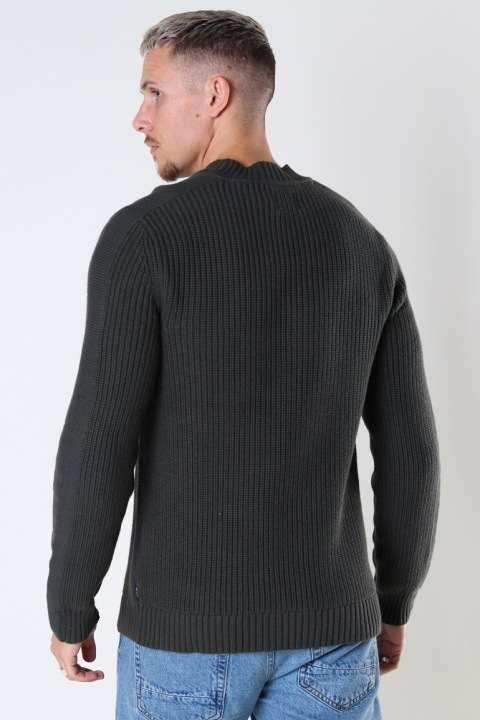 ONLY & SONS ONSBLAZE LIFE STRUCTURE MIX MOCK KNIT Peat