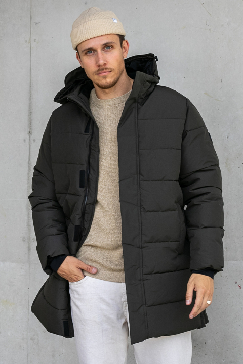 ONLY & SONS ONSCARL LONG QUILTED COAT OTW Peat