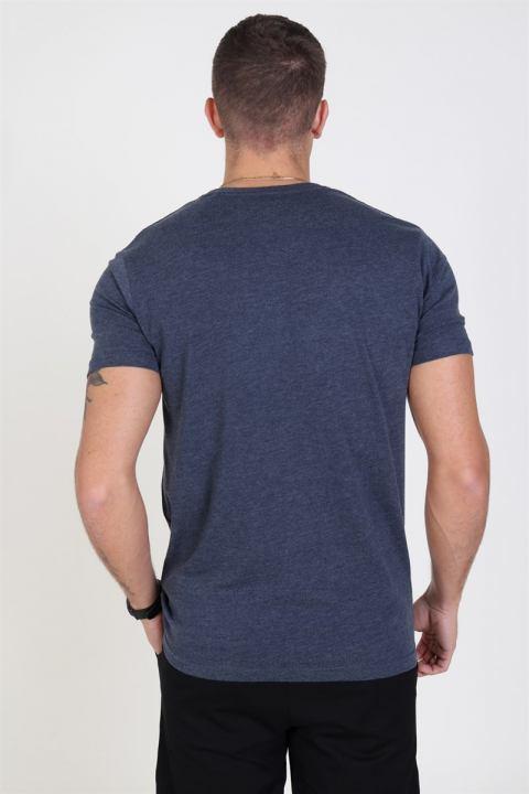 Solid Rock S/S Organic T-shirt Navy Melange
