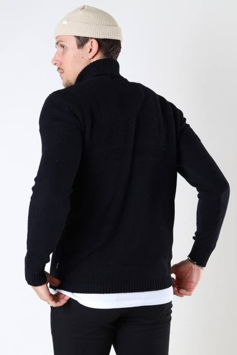 ONLY & SONS ONSBACE LS ROLL NECK KNIT Black