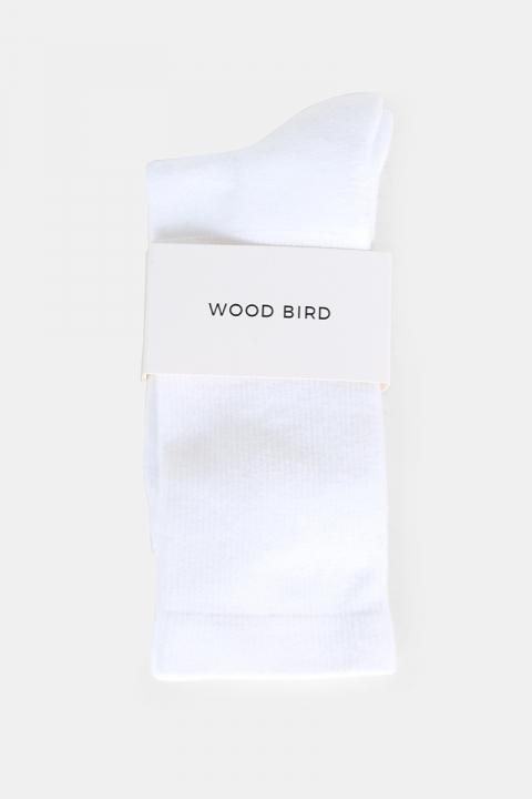 WoodBird Tennis Strømper Hvid