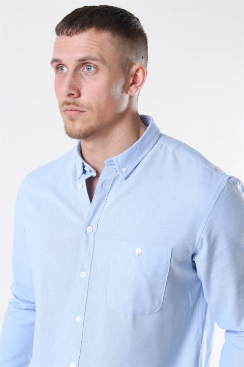 Kronstadt Johan Linen Skjorte Light Blue