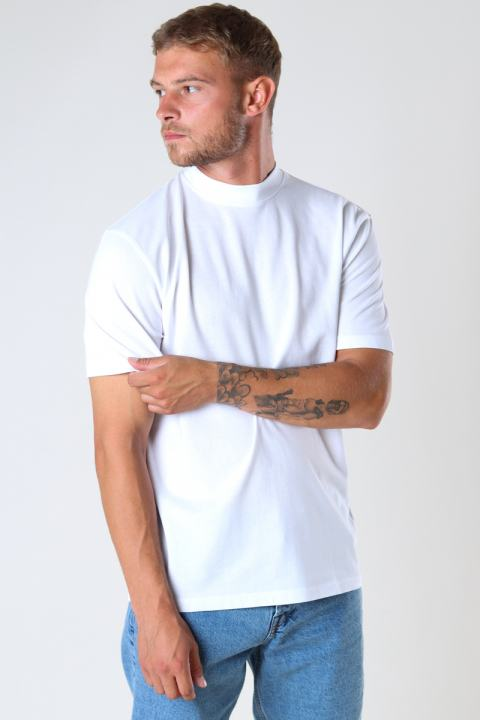 ONLY & SONS ONSVILMOS LIFE REG SS MOCK NECK TEE White