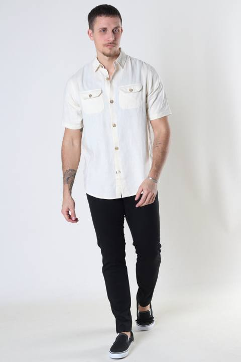Denim project DP Linen ss shirt 135 CLOUD CREAM