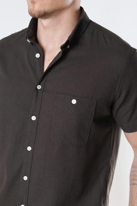 Kronstadt Johan Linen S/S shirt Army
