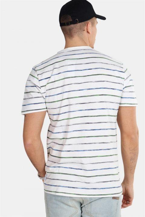 Only & Sons Leonard Stripe SS T-shirt White