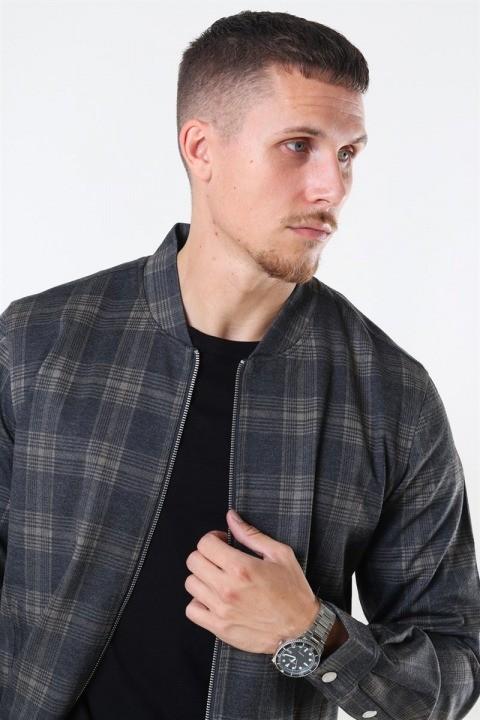 Clean Cut Max Overshirt Dark Grey/Camel