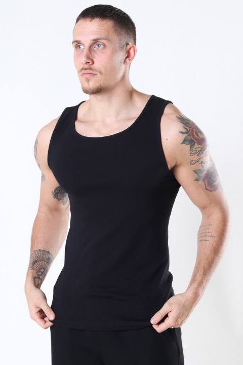Only & Sons Nate Reg Tank Top 2-Pack Black/White