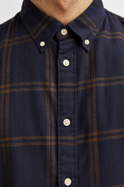 Selected SLHSLIMFLANNEL SHIRT LS W NOOS Monks Robe Big check