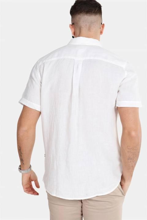 Only & Sons Caiden SS Linen Skjorte R White