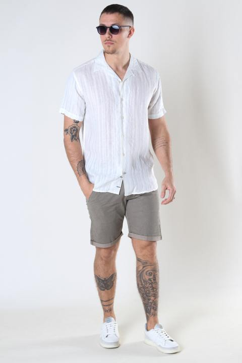 Kronstadt Cuba Linen striped shirt White