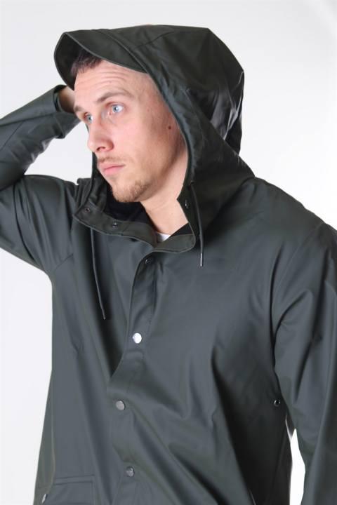 Rains Long Regnfrakke Green