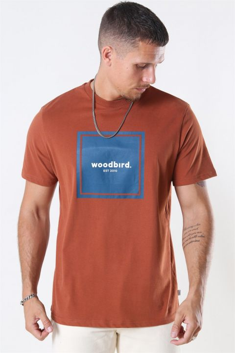 WoodBird Our Box Jubi T-shirt Clay Brown