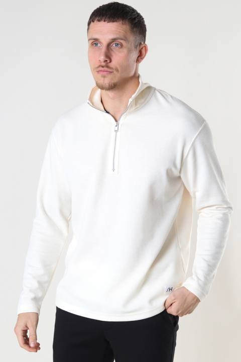 Køb Selected SLHRELAXDREW LS HIGH NECK SWEAT G Egret