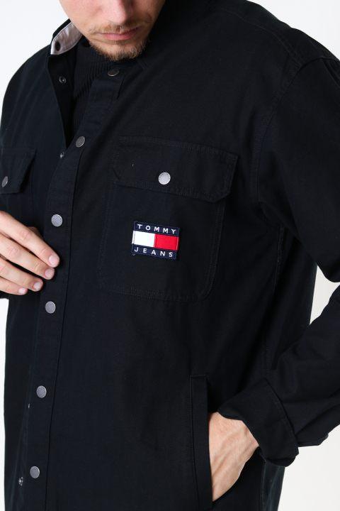 Tommy Hilfiger TJU FADED FLAG OVERSHIRT Black