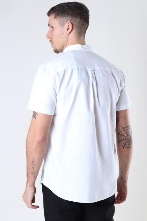 Lyle & Scott Short Sleeve Light Weight Slub Oxford Shirt White