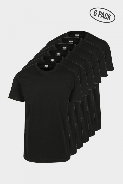 Basic Tee 6-Pack Black
